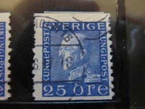 Schweden Suède Sverige Sweden 1934 Unwmk 25o Perf 10 vert fine used A13P2F147