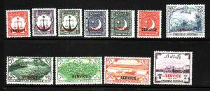D4-Pakistan-Scott#O35-O40,O45,O48-O51-unused hinged official