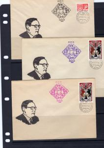Russia 1977 CHESS 3 Covers Postmark in 3 Colors