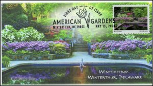 20-126, 2020, American Gardens, Pictorial Postmark, First Day Cover, Winterthur,