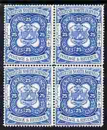 North Borneo 1888 Arms 25c perforated colour trial in blu...