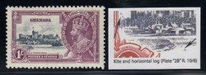 Grenada, SG 148l, MLH Kite & Horizontal Log variety