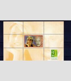 Kyrgyzstan 2000 PRINCESS DIANA & ALBERT EINSTEIN s/s Perforated Mint (NH)