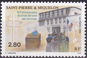 St Pierre & Miquelon #602  MNH