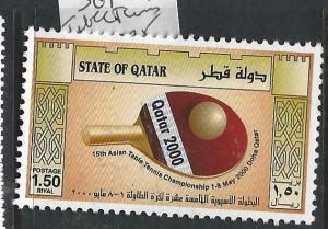 QATAR  (P0106B)  TABLE TENNIS  SG 1081  MNH