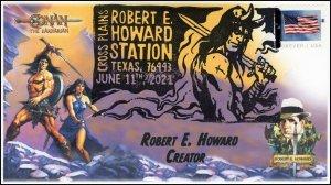21-142, 2021, Robert E Howard, Event Cover, Pictorial Postmark, Conan the Barbar