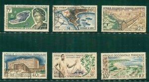 FRENCH WEST AFRICA C22-C27 USED SCV $8.00 BIN $3.75
