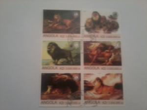 ANGOLA SHEET USED WILDCATS LIONS WILDLIFE