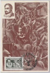 51491  - ARGENTINA -  POSTAL HISTORY: MAXIMUM CARD - 1947 Litterature CERVANTES