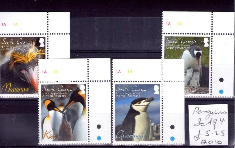 SOUTH GEORGIA PENGUINS 2010 superb MNH Condition.