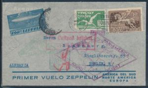 LZ127 JUNE 1930 URUGUAY TO NEW YORK ROUND TRIP COVER SI #61B BU6214