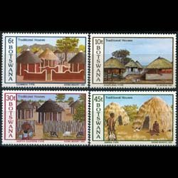 BOTSWANA 1982 - Scott# 299-302 Trad.Houses Set of 4 NH