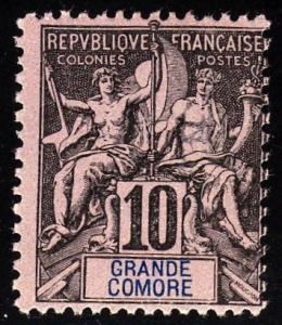 Grand Comoro 5 - MNG - no gum - CV $10