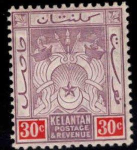 MALAYA Kelantan Scott 7 MH* wmk 3
