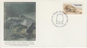 1979 Canada Wildlife Soft-Shelled Turtle (813) Fleetwood
