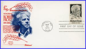 US FDC #1526 10c Robert Frost ~ Fleetwood (8725)