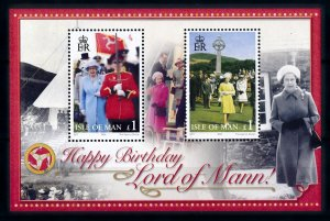 Isle of Man --2006 -80th Birthday QEII  MNH S/Sheet   # 1143