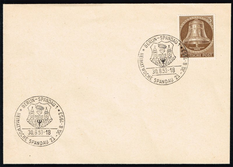 Germany #9N94 Freedom Bell; Used on Cover