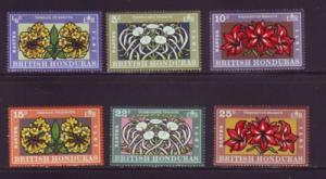 British Honduras Sc 275-80 1971Flowers stamp set mint NH