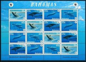 [1104] Bahamas Fishes WWF good Sheet very fine MNH