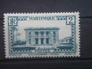 MARTINIQUE, 1933, used 2c, Government Palace Scott 134