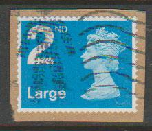 GB QE II Machin SG U2969 - 2nd brt blue -  M12L - Source  B