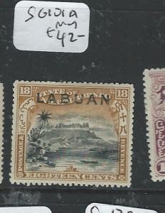 LABUAN (PP1205B) 18C MOUNTAIN SG 101A  MOG