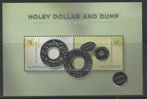 AUSTRALIA SGMS4084 2013 BICENTENARY OF HOLEY DOLLAR AND DUMP MNH