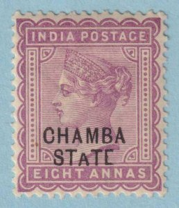 INDIA - CHAMBA STATE 8  MINT HINGED OG * NO FAULTS EXTRA FINE!