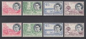 Belgian Congo Sc 290-297 MNH. 1955 King Baudouin & local scenes, complete set