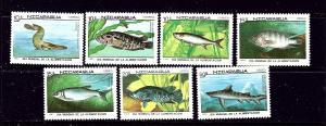 Nicaragua 1661-67 MNH 1987 Fish