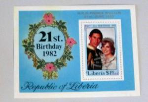 Liberia - 965, MNH S/S. Ovpt. Royal Baby Birth. SCV - $3.50