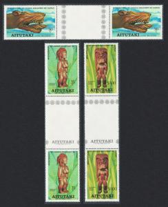Aitutaki Bicentenary of Discovery of Hawaii 3v Gutter Pairs SG#248-250