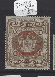 NORTH BORNEO (P2107B) BP $10.00 ARMS SG 145   MOG