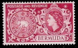BERMUDA Scott 160 MNH** key stamp from 1953-58 QE2 set