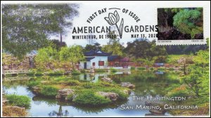20-129, 2020, American Gardens, Pictorial Postmark, First Day Cover, The Hunting