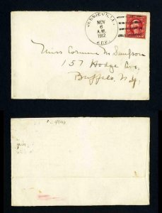 Cover from Jessieville, Arkansas to Buffalo, New York dated 11-6-1912