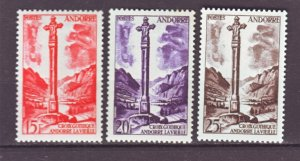 J22140 Jlstamps 1955-8 french andorra part of set mh #132,134-5 cross