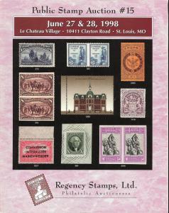 Public Stamp Auction No. 15, Regency 15