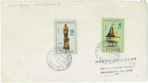 93734 -  TIMOR  - POSTAL HISTORY -  COVER to the USA with MILITARY POSTMARK 1975