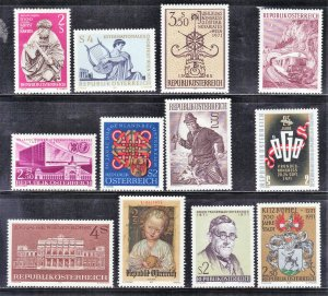 AUSTRIA  STAMPS MINT HINGED LOT #8 1971   SEE SCAN