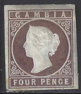 Gambia 1869 SC 1 MLH SCV $575