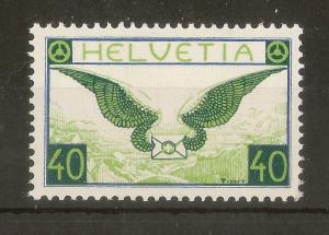 Switzerland 1933 40c Air SG332A MNH Cat£65