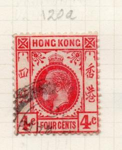 Hong Kong 1921 Early Issue Fine Used 4c. 278088