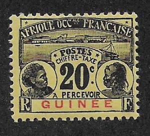 FRENCH GUINEA SC# J11  F/MOG    1906