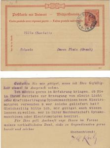 ALLEMAGNE / GERMANY / DEUTSCHLAND 1896 HOHENLIMBURG EINKREISSTEMPEL /Mi.P27F
