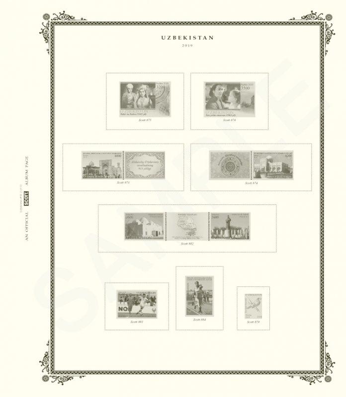 Scott Uzbekistan Stamp Album (1992 - 2019)