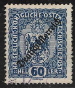 Austria Osterreich Scott 192 Used  Coat of Arms stamp w Republic opt