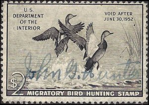 RW18 Used... Federal Duck Stamp... SCV $15.00