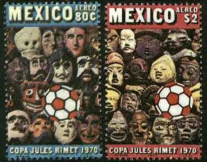 MEXICO C372-C373, World Soccer Championship Rimet Cup. MINT, NH. F-VF.